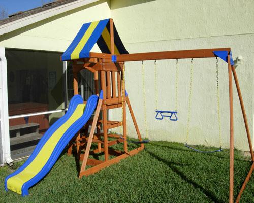 swing set climbing frame