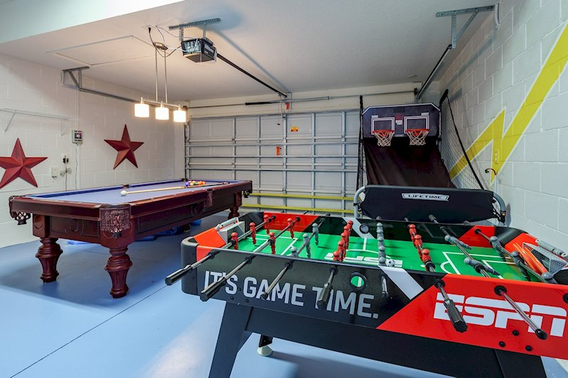 Basket ball, foosball & pool