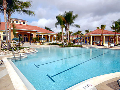 Try the resort pool and clubhouse