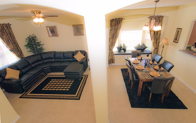 Second lounge and dining area