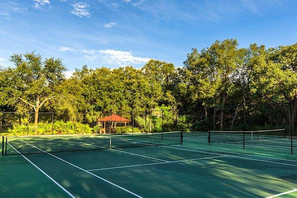 TENNIS COURT IN THE RESORT