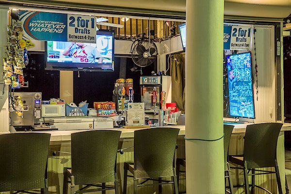 TIKI BAR IN THE CLUBHOUSE