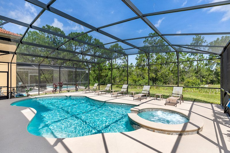 Pool and Spa with extended deck