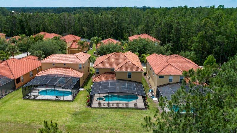 Aerial View of pool deck