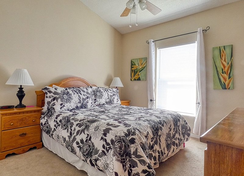 One of two Queen sized bedrooms